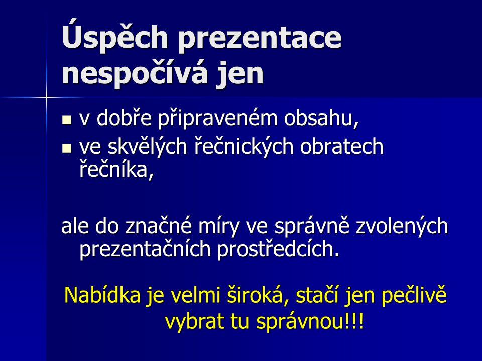 Prezentační prostředky Pavel Dvořák