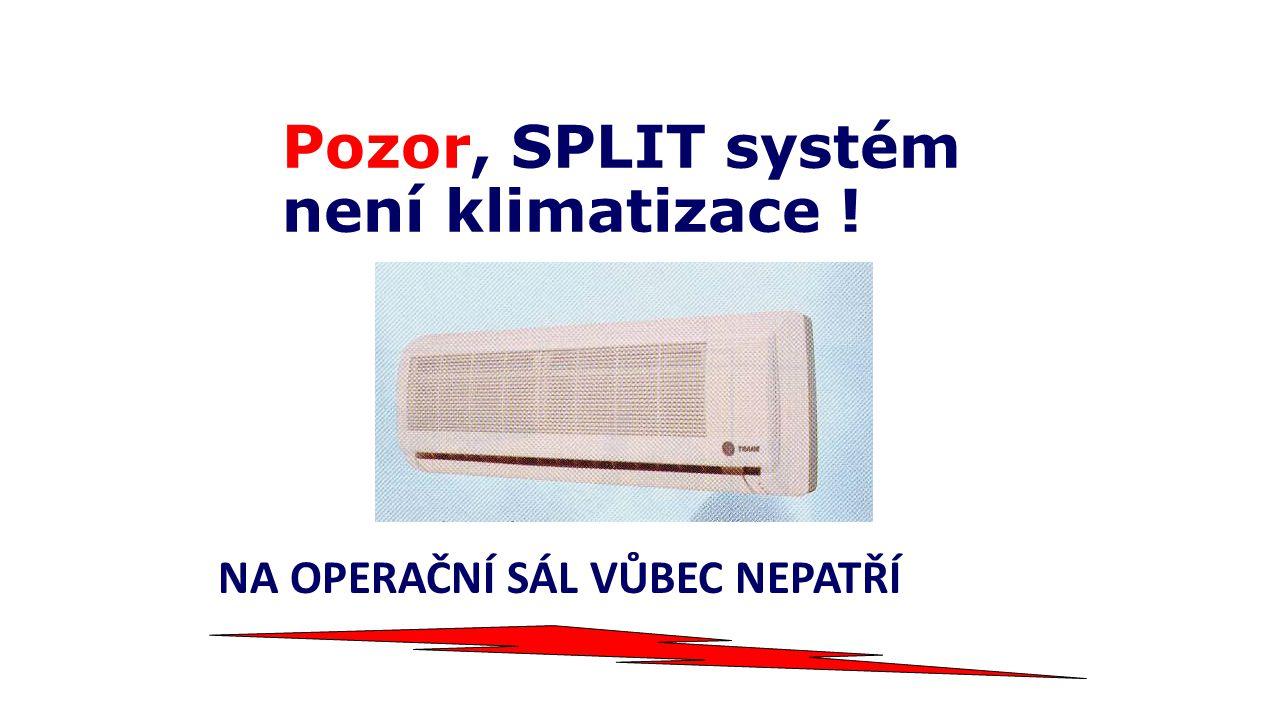 Pozor, SPLIT systém není klimatizace ! NA OPERAČNÍ SÁL VŮBEC NEPATŘÍ