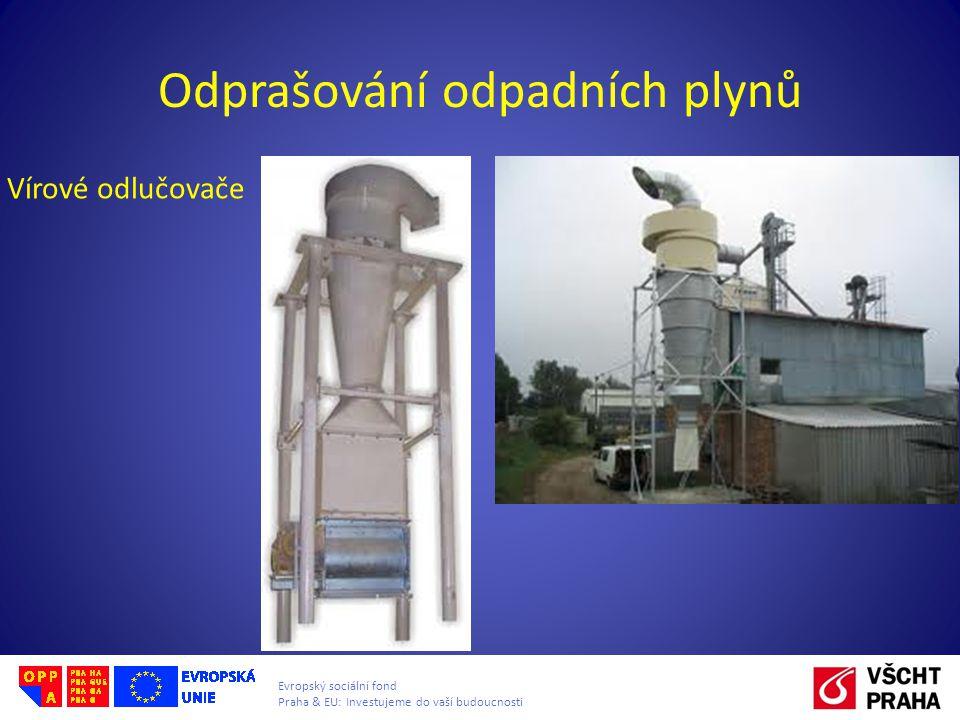 Evropský sociální fond Praha & EU: Investujeme do vaší budoucnosti Odprašování odpadních plynů Vírové odlučovače