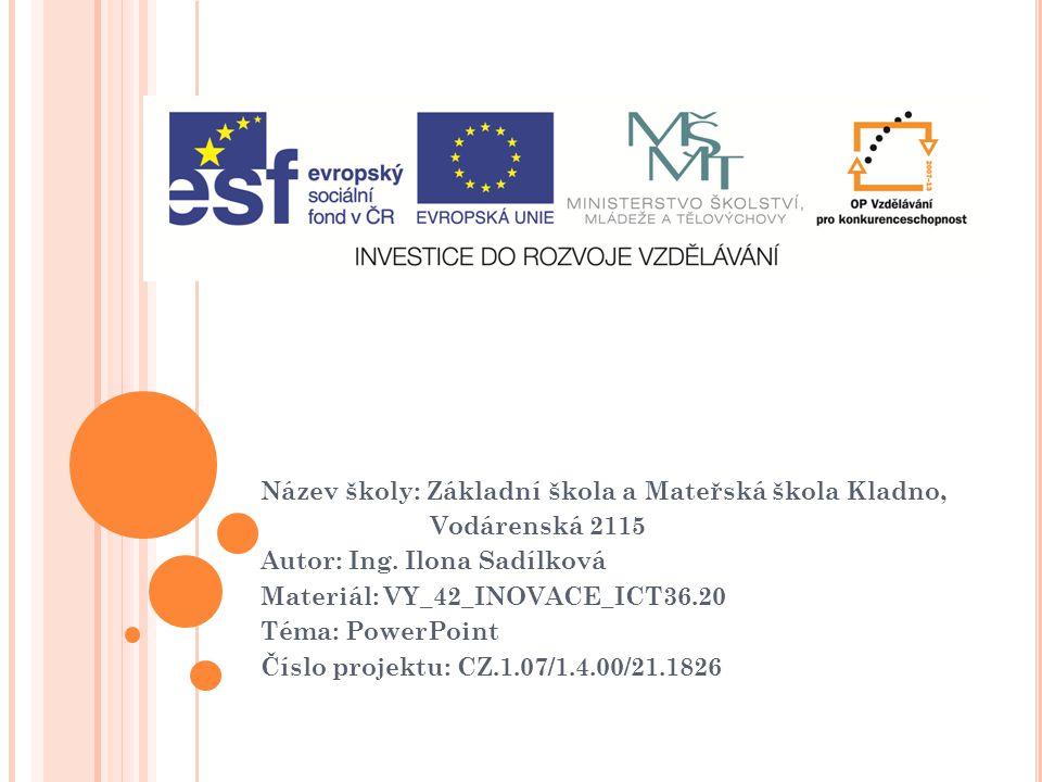 P REZENTACE - NA CO NEZAPOMENOUT ! (program PowerPoint) VY_32_INOVACE_ICT36.20
