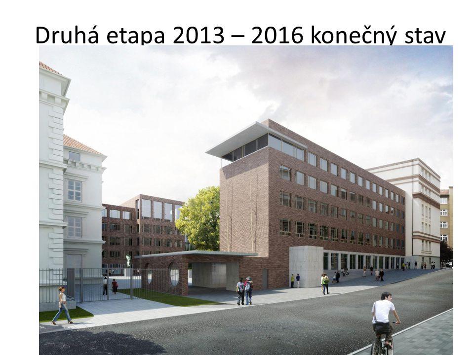 Druhá etapa 2013 – 2016 konečný stav
