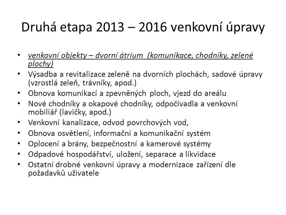 Časový plán realizace v letech • Předprojektová příprava, průzkumy2005 - 2007 • Získání Územního rozhodnutí a Změny UR stavby2010 • Investiční záměr vč.
