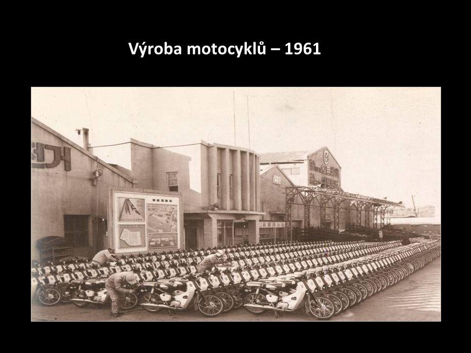 Výroba motocyklů – 1961