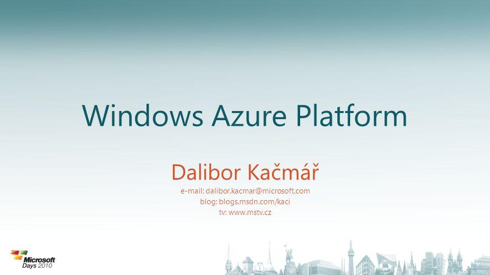 Microsoft cloud služby • Určeno do firemního prostředí • Široká nabídka služeb • Nové možnosti, známé programy • Vysoké investice • Globální infrastruktura