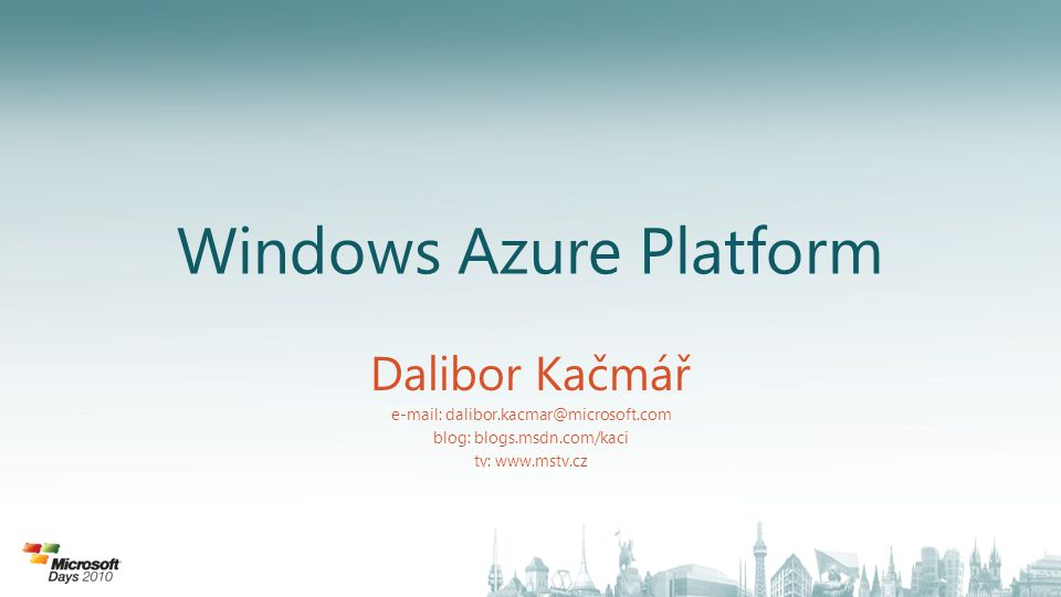 Windows Azure Platforma
