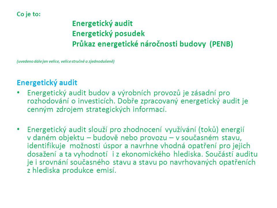 Energetický audit se zpracovává podle konverze zákona 406/2000 Sb.