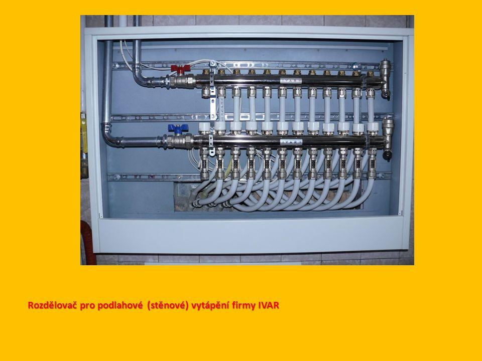 Rozdělovač pro podlahové (stěnové) vytápění firmy IVAR