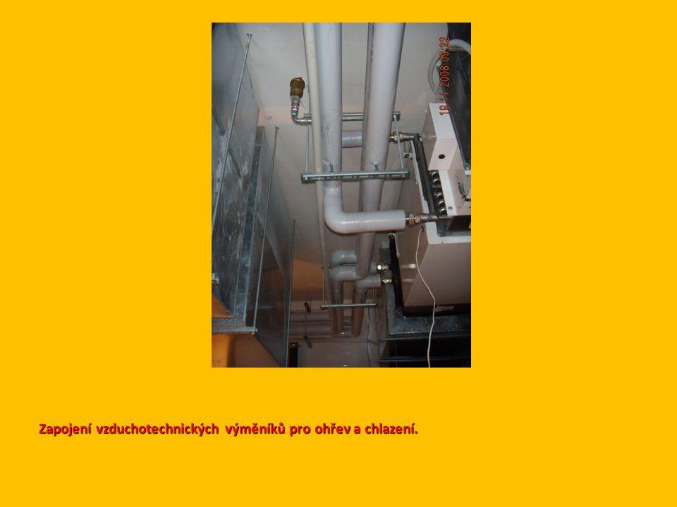 Zapojení vzduchotechnických výměníků pro ohřev a chlazení.