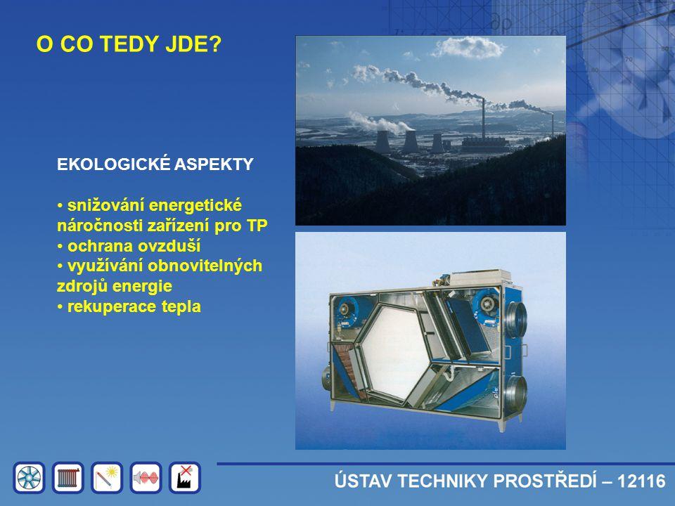 O CO TEDY JDE? EKOLOGICKÉ ASPEKTY • snižování energetické náročnosti zařízení pro TP • ochrana ovzduší • využívání obnovitelných zdrojů energie • reku
