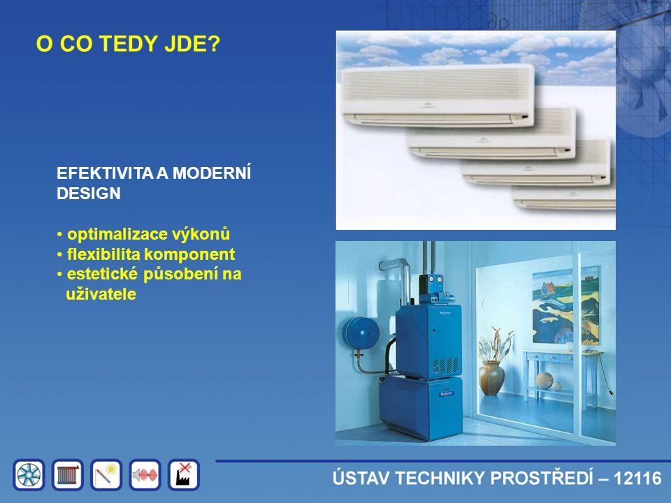 O CO TEDY JDE? EFEKTIVITA A MODERNÍ DESIGN • optimalizace výkonů • flexibilita komponent • estetické působení na uživatele