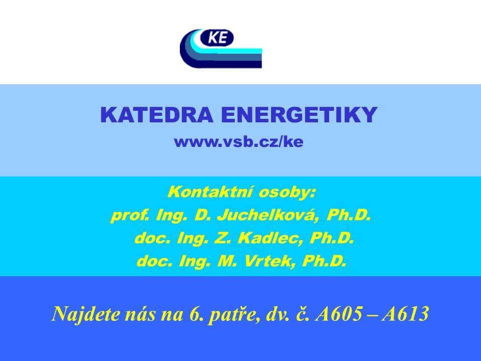 Najdete nás na 6. patře, dv. č. A605 – A613 Kontaktní osoby: prof. Ing. D. Juchelková, Ph.D. doc. Ing. Z. Kadlec, Ph.D. doc. Ing. M. Vrtek, Ph.D. KATE