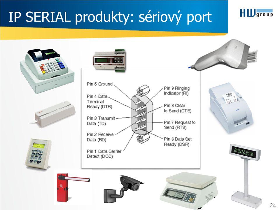 24 IP SERIAL produkty: sériový port