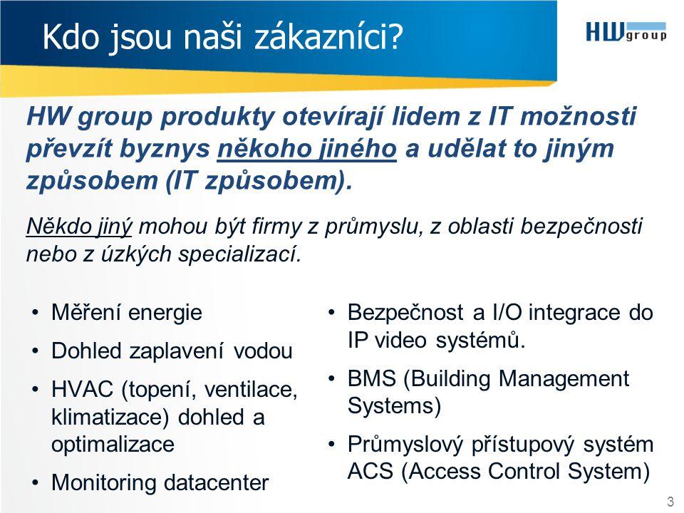 HW group produkty otevírají lidem z IT možnosti převzít byznys někoho jiného a udělat to jiným způsobem (IT způsobem). 3 Kdo jsou naši zákazníci? Někd