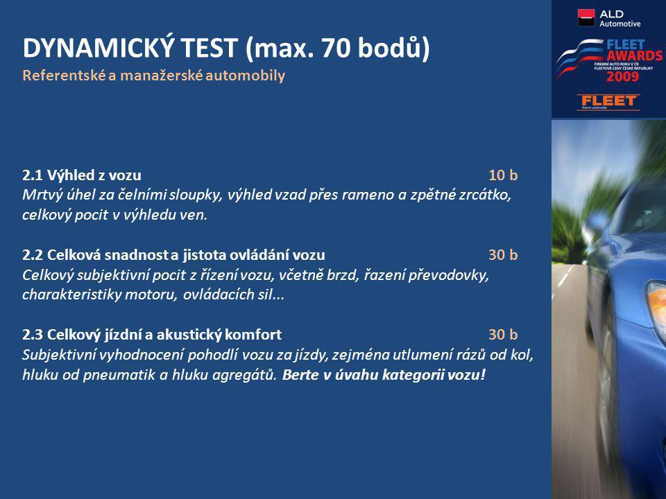 DYNAMICKÝ TEST (max.