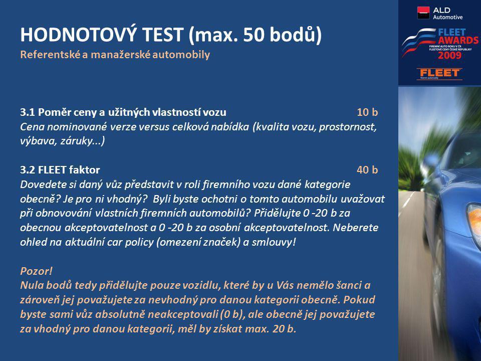 HODNOTOVÝ TEST (max.