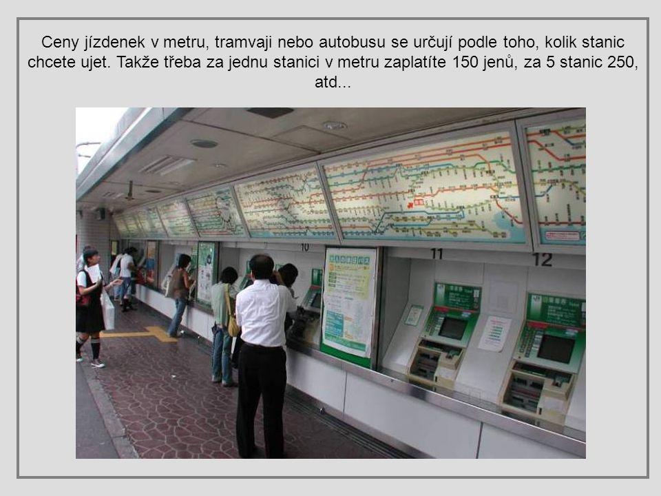 MHD automaty na jízdenky