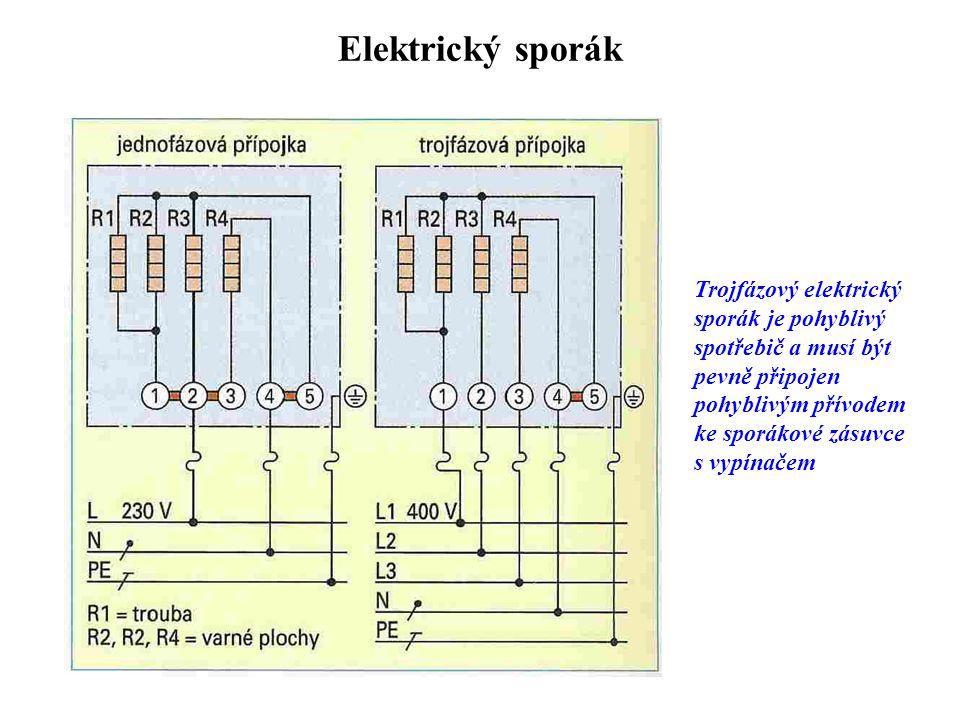 Elektrický sporák Trojfázový elektrický sporák je pohyblivý spotřebič a musí být pevně připojen pohyblivým přívodem ke sporákové zásuvce s vypínačem