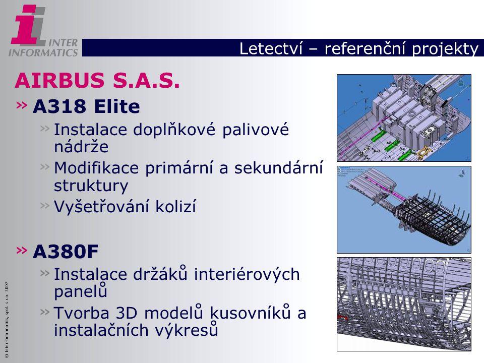 © Inter-Informatics, spol. s r.o. 2007 AIRBUS S.A.S. » A318 Elite » Instalace doplňkové palivové nádrže » Modifikace primární a sekundární struktury »