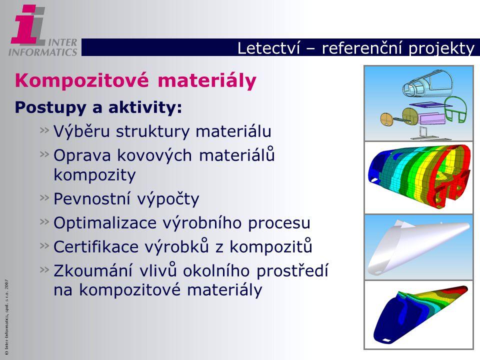 © Inter-Informatics, spol. s r.o. 2007 Kompozitové materiály Postupy a aktivity: » Výběru struktury materiálu » Oprava kovových materiálů kompozity »