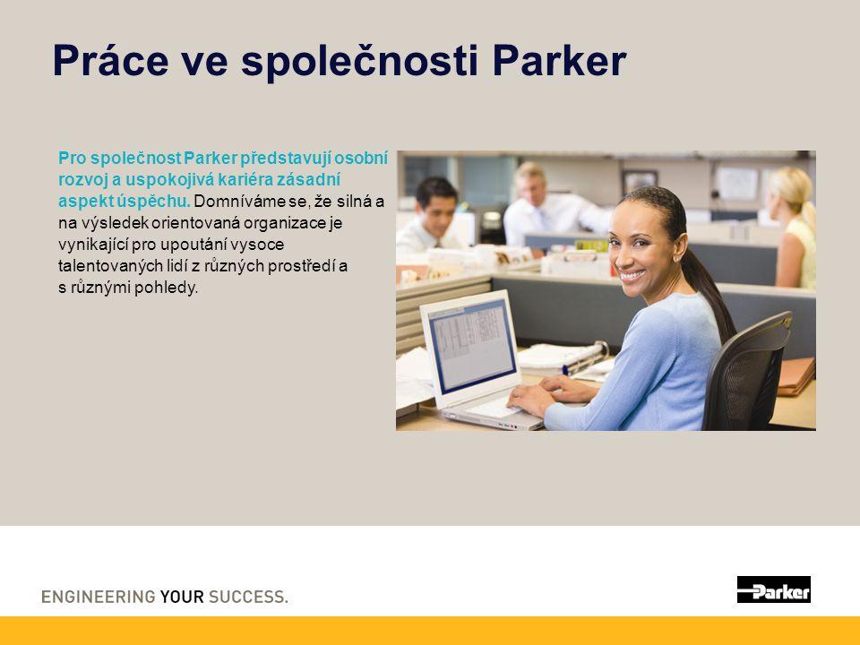 Práce ve společnosti Parker Pro společnost Parker představují osobní rozvoj a uspokojivá kariéra zásadní aspekt úspěchu. Domníváme se, že silná a na v