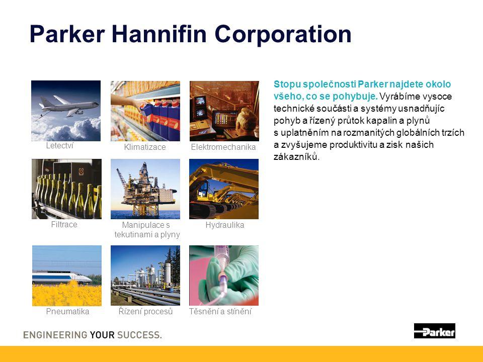 Parker Hannifin Corporation Stopu společnosti Parker najdete okolo všeho, co se pohybuje. Vyrábíme vysoce technické součásti a systémy usnadňujíc pohy