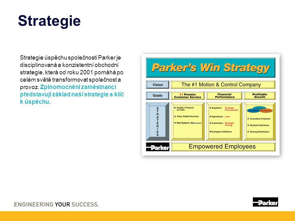 Strategie Strategie úspěchu společnosti Parker je disciplinovaná a konzistentní obchodní strategie, která od roku 2001 pomáhá po celém světě transformovat společnost a provoz.
