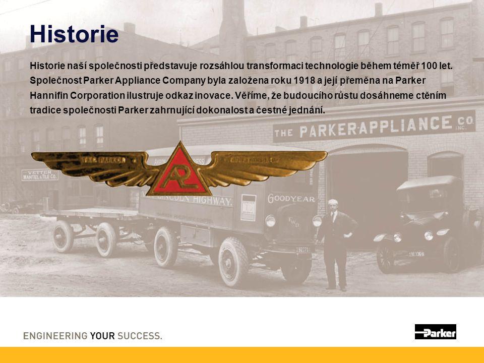 Historie Historie naší společnosti představuje rozsáhlou transformaci technologie během téměř 100 let. Společnost Parker Appliance Company byla založe