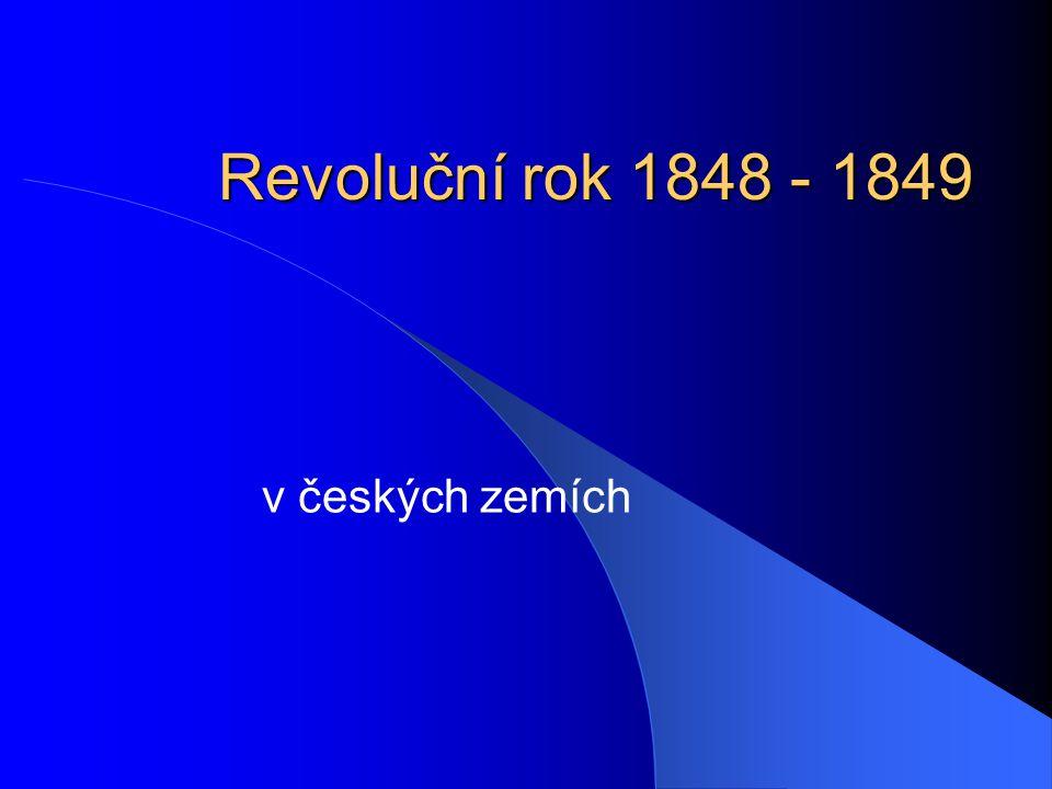 1849  Spolek Lípa slovanská  Z ústavního výboru odstoupil Palacký, nebyla přijata jeho federalistická koncepce  Návrh ústavy připraven, ale 7.3.