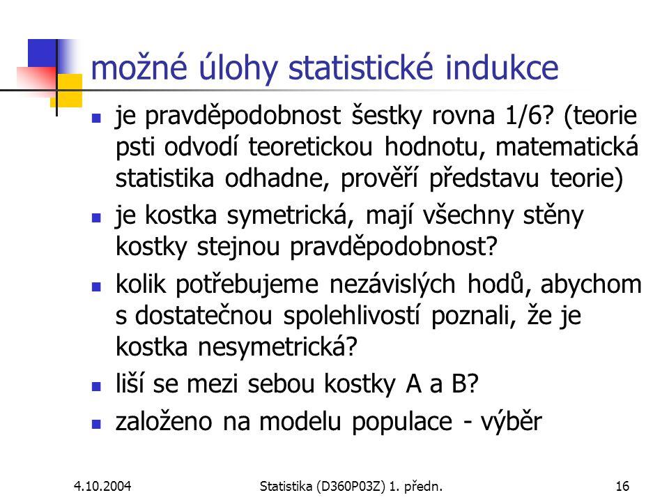 4.10.2004Statistika (D360P03Z) 1.
