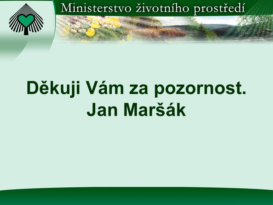 Děkuji Vám za pozornost. Jan Maršák