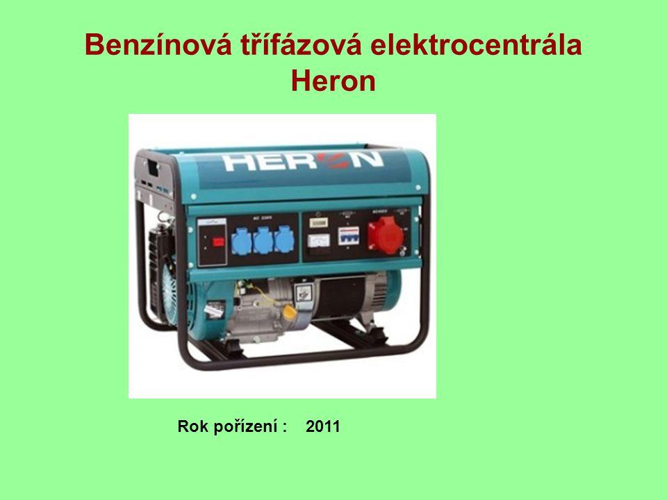 Benzínová třífázová elektrocentrála Heron Rok pořízení : 2011
