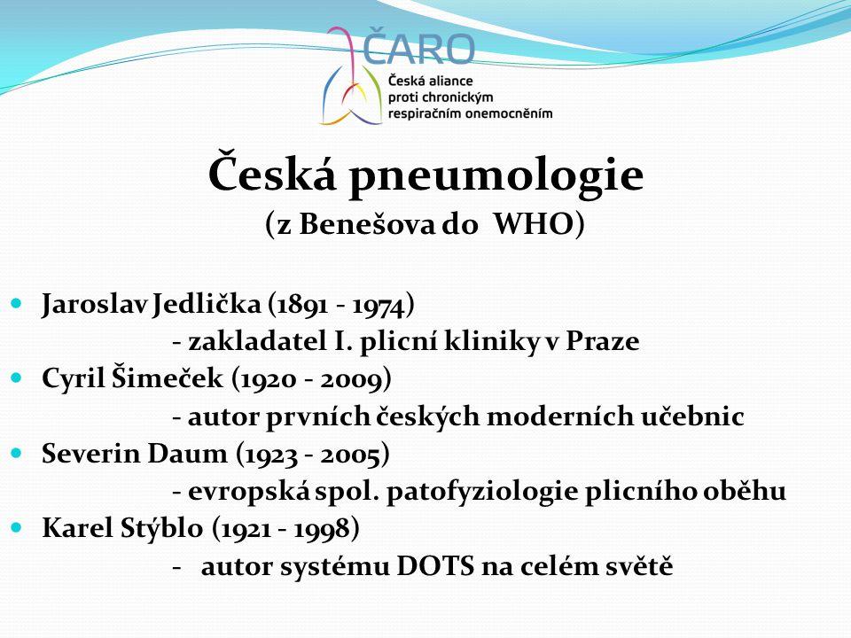 Česká pneumologie (z Benešova do WHO)  Jaroslav Jedlička (1891 - 1974) - zakladatel I.