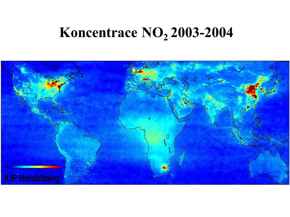 Koncentrace NO 2 2003-2004