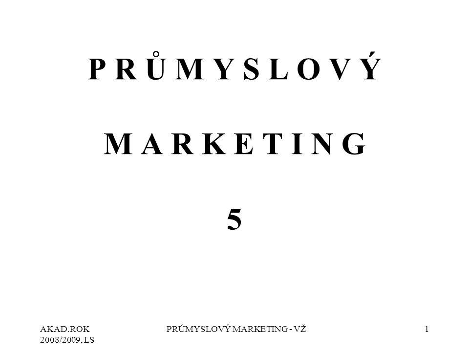 AKAD.ROK 2008/2009, LS PRŮMYSLOVÝ MARKETING - VŽ12 Pro marketingové pojetí produktu je charakteristické jeho komplexní chápání.