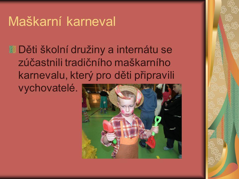 Akce v únoru 2012 Maškarní karneval Školní turnaj v bocii Týden zdraví
