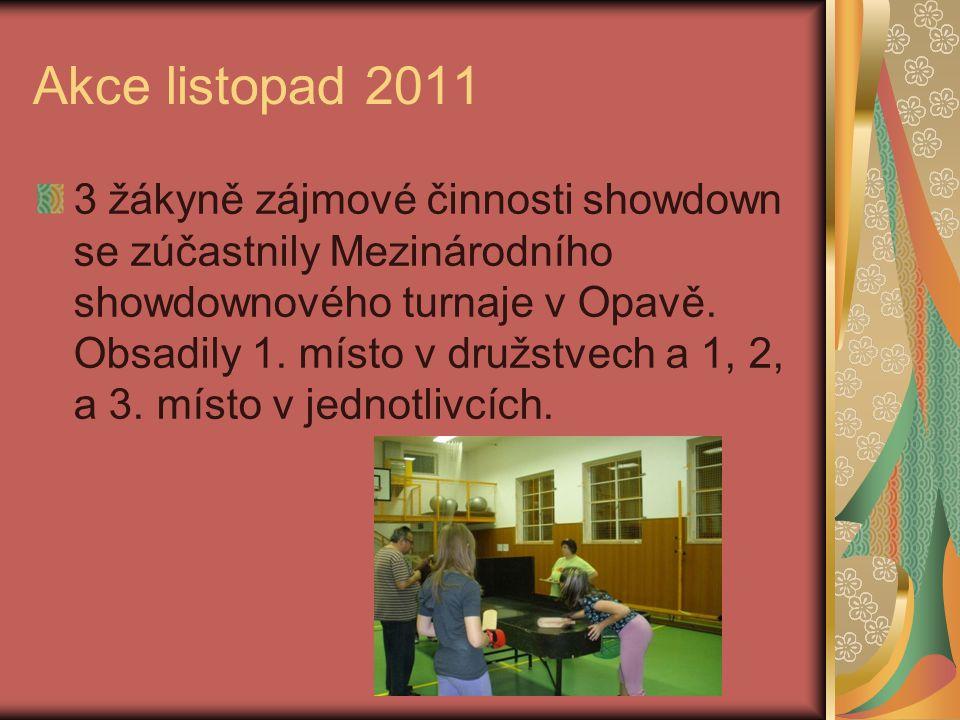 Akce říjen 2011 4 žáci šachového kroužku se zúčastnili Mezinárodního turnaje v Litovli ve dnech Koloběžkiáda – účast 1. – 6. třídy (50 dětí)