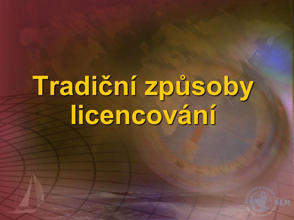 Tradiční způsoby licencování