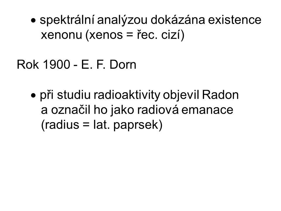 spektrální analýzou dokázána existence xenonu (xenos = řec.