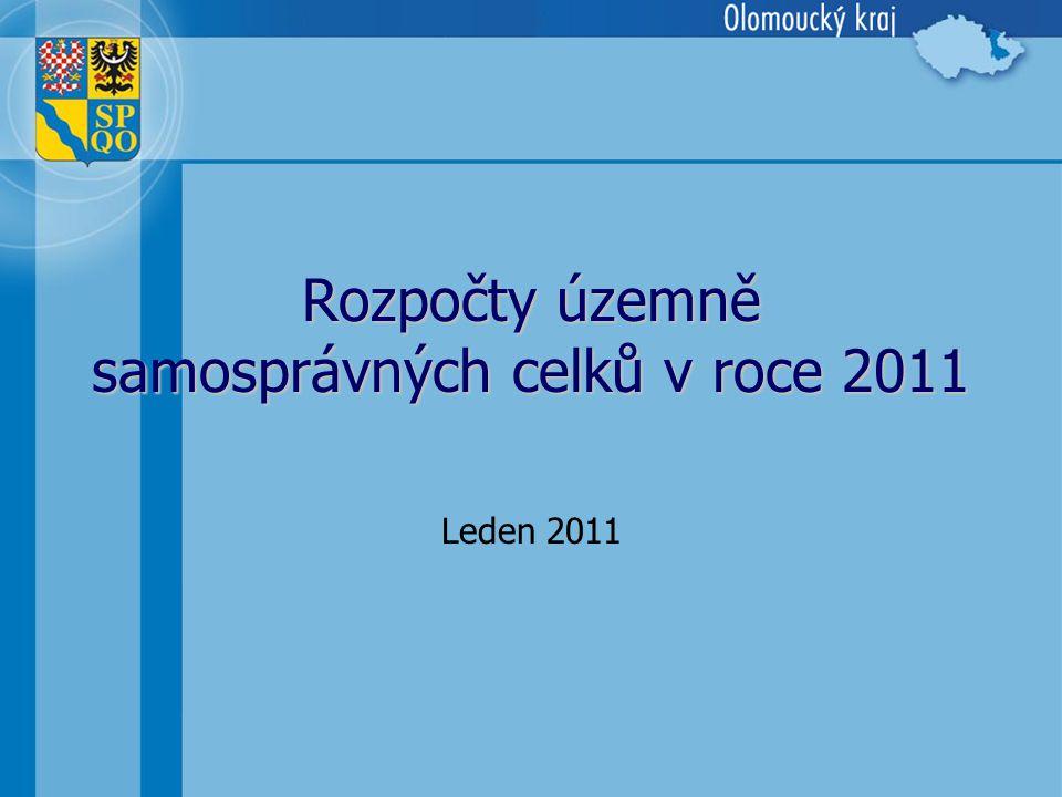 Rozpočty územně samosprávných celků v roce 2011 Leden 2011