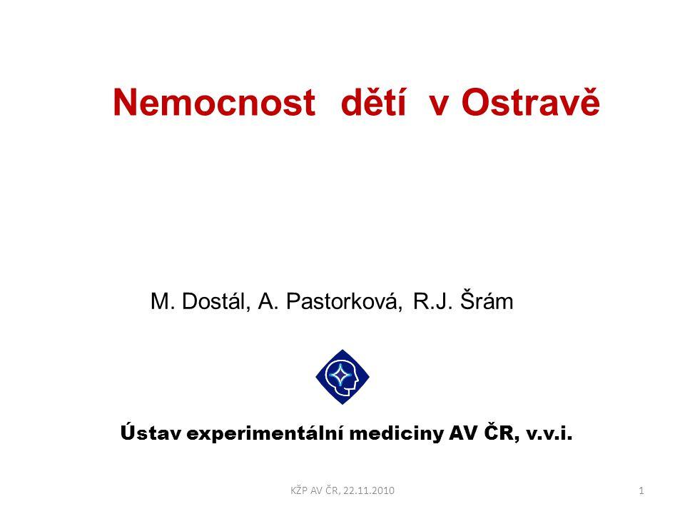 Zánět plic incidence/dítě 22KŽP AV ČR, 22.11.2010