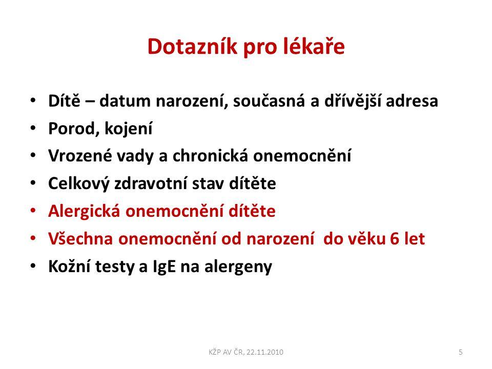 Věk prvních příznaků AB Radvanice Bartovice, 71 dětí s AB KŽP AV ČR, 22.11.201036
