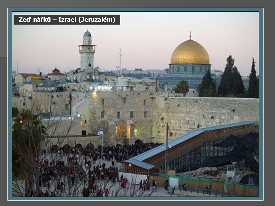 Zeď nářků – Izrael (Jeruzalém)