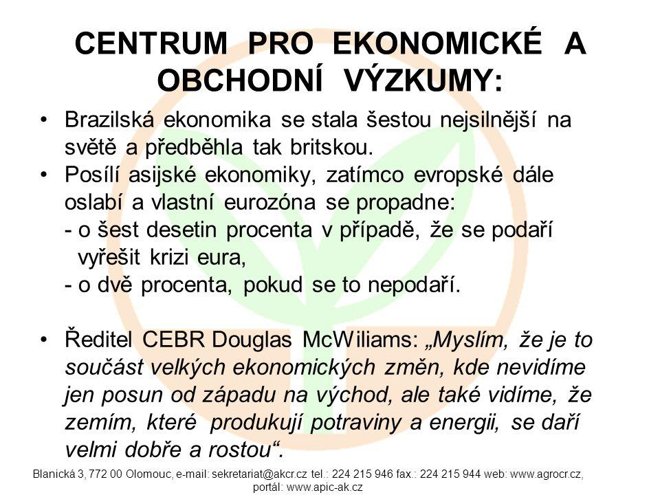 Blanická 3, 772 00 Olomouc, e-mail: sekretariat@akcr.cz tel.: 224 215 946 fax.: 224 215 944 web: www.agrocr.cz, portál: www.apic-ak.cz CENTRUM PRO EKO