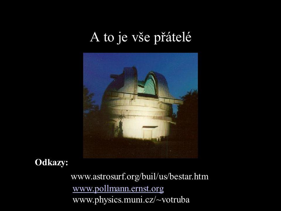 A to je vše přátelé www.astrosurf.org/buil/us/bestar.htm www.pollmann.ernst.org www.physics.muni.cz/~votruba Odkazy: