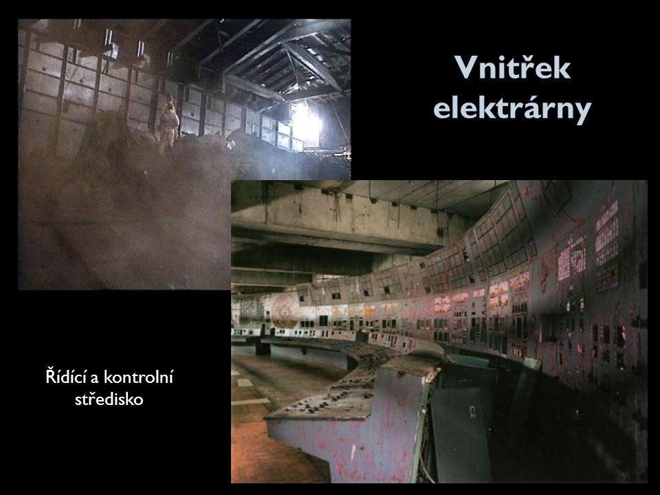 Vnitřek elektrárny Řídící a kontrolní středisko