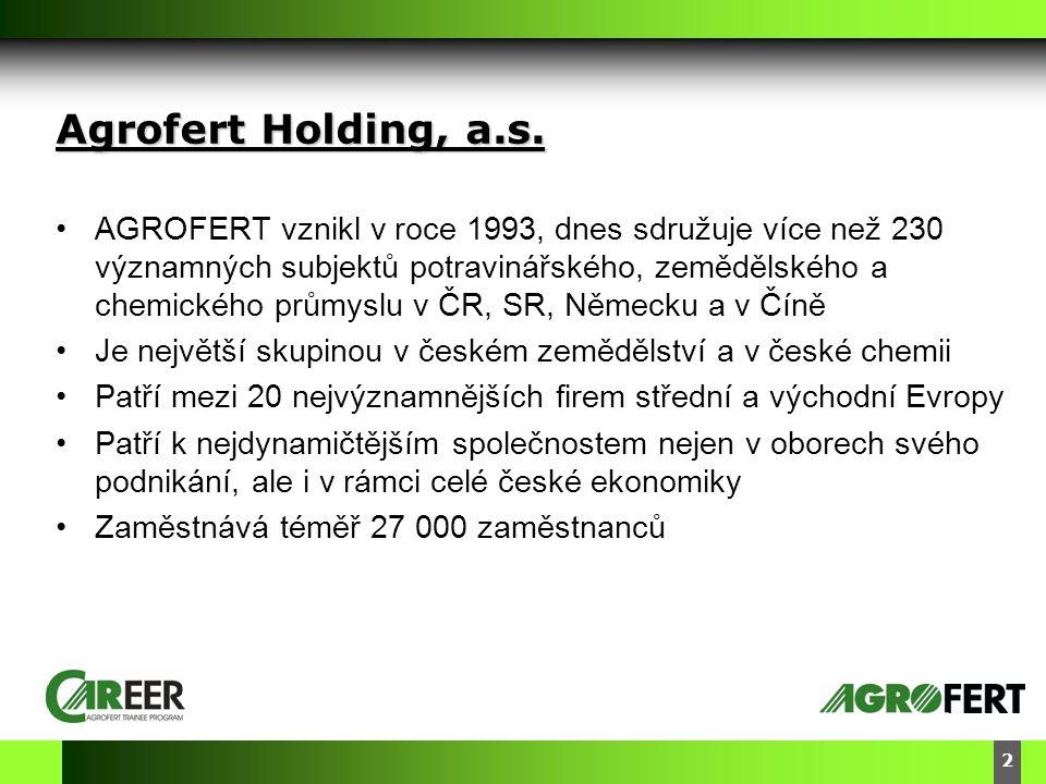 DyStar – Aliachem meeting 3 Segmenty našeho podnikání CHEMIE ZEMĚDĚLSTVÍ DOPRAVNÍ TECHNIKA POTRAVINÁŘSTVÍ •1993 Založení Agrofert s.r.o.