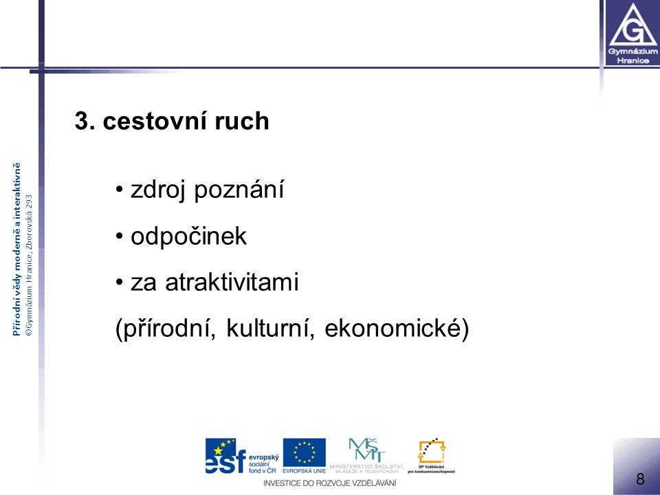 Přírodní vědy moderně a interaktivně ©Gymnázium Hranice, Zborovská 293 9 Přirozený pohyb obyvatelstva 1.