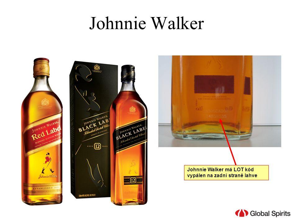 Johnnie Walker Johnnie Walker má LOT kód vypálen na zadní straně lahve
