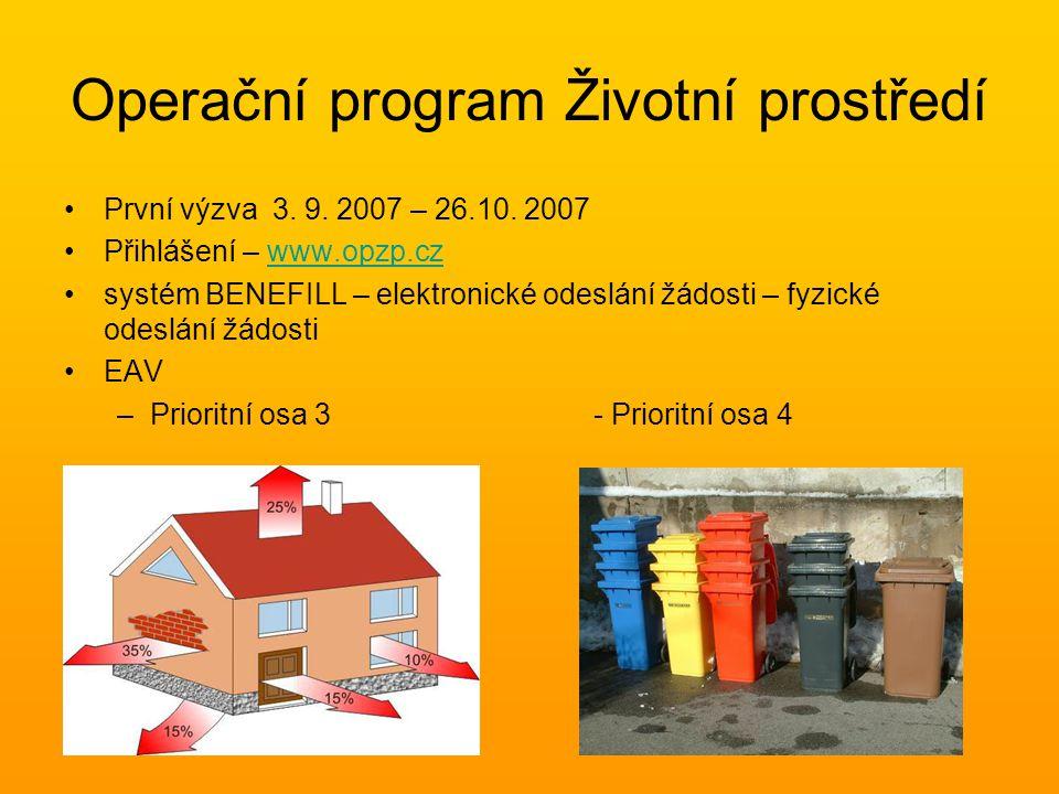 •www.opzp.czwww.opzp.cz •Call centrum – 800 260 500 •dotazy@sfzp.czdotazy@sfzp.cz •Regionální poradenská a informační infrastruktura OPŽP •Krajské pracoviště - Kraj Vysočina Havlíčkova 111, Jihlava Tel: 724 716 812 Ing.
