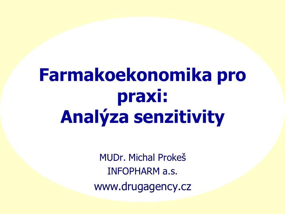 Farmakoekonomika pro praxi: Analýza senzitivity MUDr. Michal Prokeš INFOPHARM a.s. www.drugagency.cz